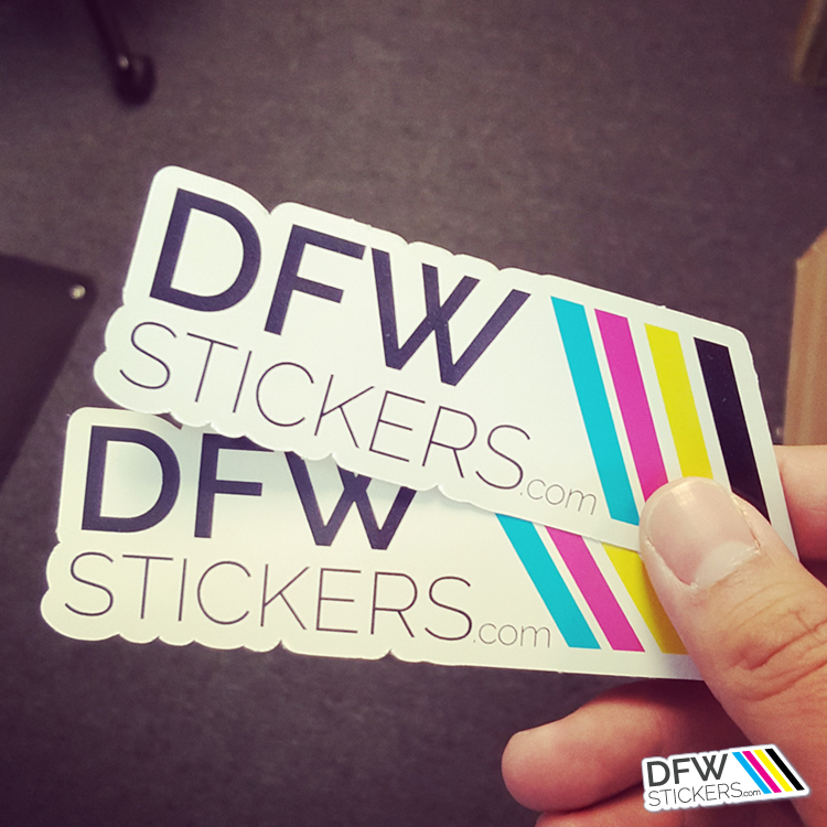 Custom Shape Vinyl Stickers DFW Stickers - Custom die cut vinyl stickers how to apply